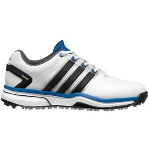 723d20379b25 NEW MENS ADIDAS ADIPOWER BOOST WHITE BLACK GOLF SHOES Q46923 Q44637 ...