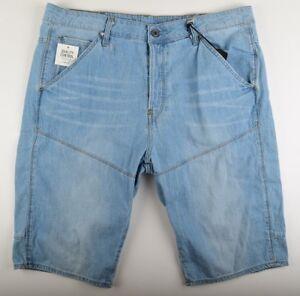 G-Star-Raw-Elwood-5620-3D-Tapered-1-2-Size-W35-Blue-Men-039-s-Shorts-Bermuda