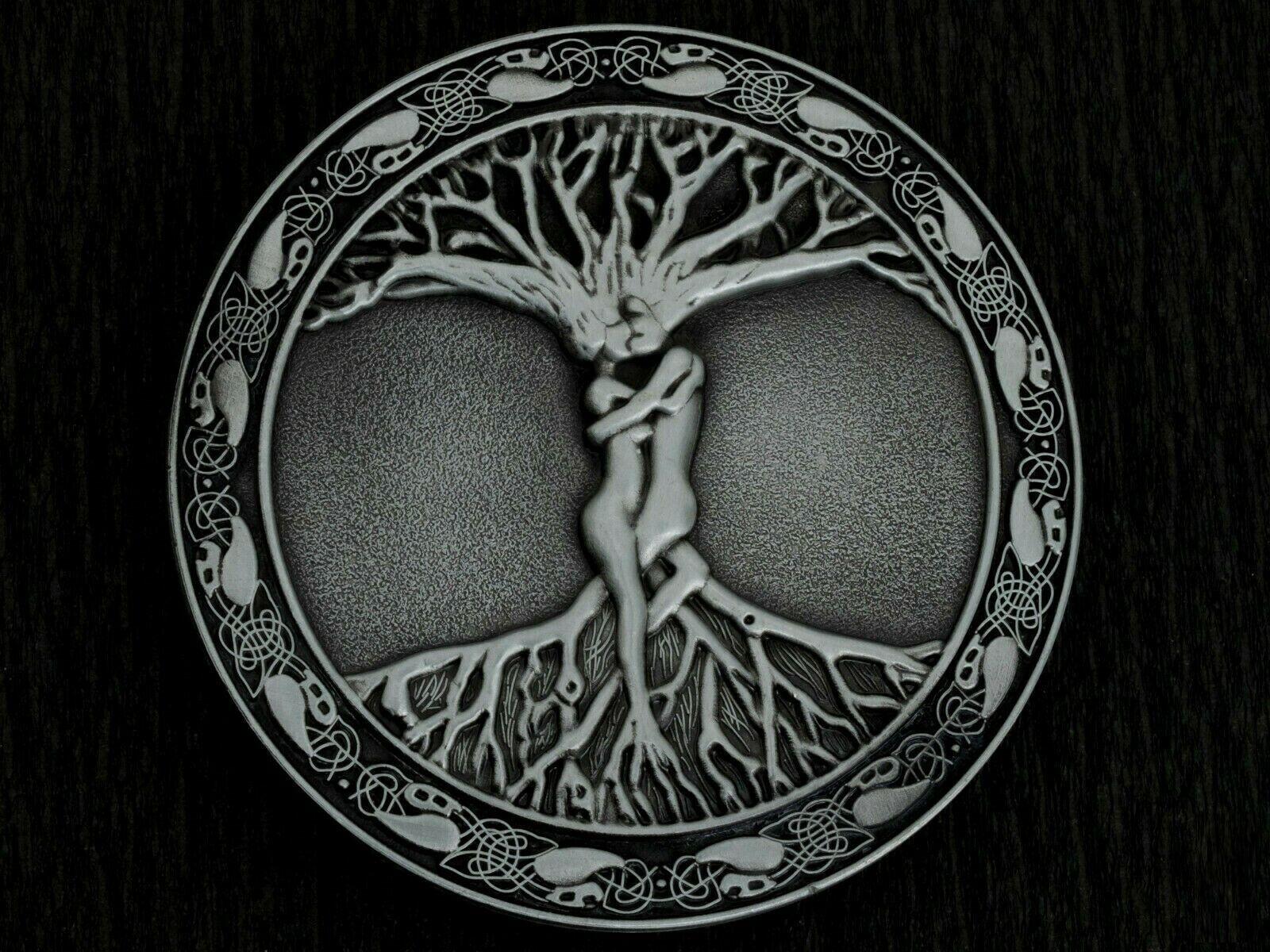 Gürtelschnalle Buckle Baum des Lebens Lebensbaum Weltenbaum Wikinger Vintage
