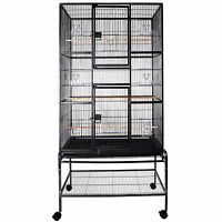 69 Large Bird Cage Parrot Finch Macaw Cockatoo Canary Pet Supplies Perch Grate