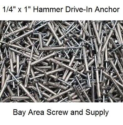 "Allfasteners 1//4/"" x 1-1//2/"" Stainless Zamac Nailin Hammer Drive Anchor 100-Pack"