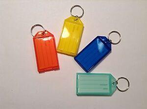 New 24pcs Click-It Key ID Labels Tags with Key Ring - ASST COLORS * US SHIPPER *