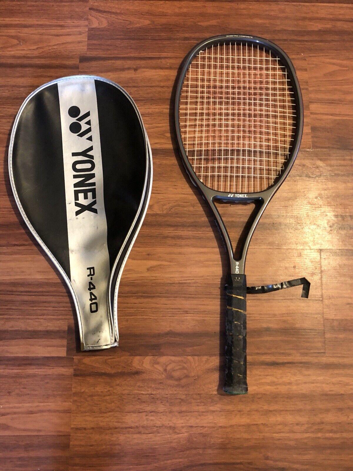 Yonex Rexplay 440 Isometric Composite R-440 Tennis Racquet 4 5 8 W  Cover Case