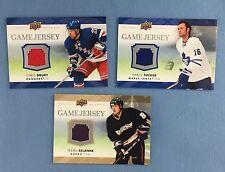 Lot of 3 Diff 2007-08 Upper Deck Hockey Game Jersey Cards Selanne Tucker Drury
