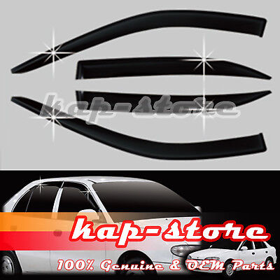 Smoke Wind Rain Window Visor Vent 4pcs For 94 95 96 97 98 99 Hyundai Accent