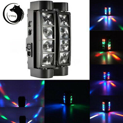 85W 8LED RGBW LED DMX DJ Spider Moving Head Stage Lights Party DJ Club Light