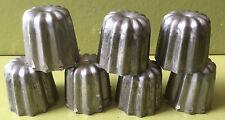 MOULE A MINI CANELÉS METAL LOT DE 7 moules gâteaux DE PATISSIER