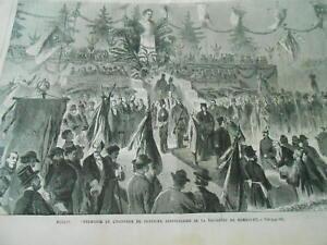 Humble Gravure 1869 - Berlin Cérémonie Honneur 100èm Anniversaire Naissance Humboldt