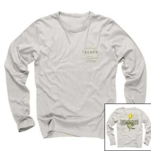 Twenty One Pilots Rose Manches T Shirt blanc homme grand NEUF