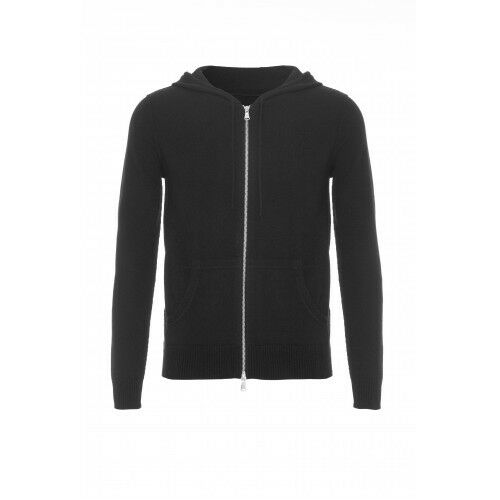 Mens Pure Cashmere Cardigan Hoodie with Zip