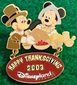 DLR Disneyland DISNEY 2003 Happy Thanksgiving Mickey ...