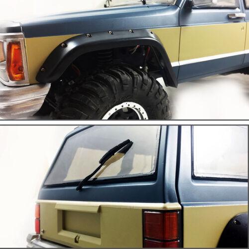 acrylonitrile butadiène styrène Un ensemble de 1//10 Caoutchouc Fender Flares pour Cherokee XJ en plastique dur Corps 313 mm