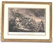 Beautifully Framed The Battle of Bunker Hill by John Trumbull Historic Engraving