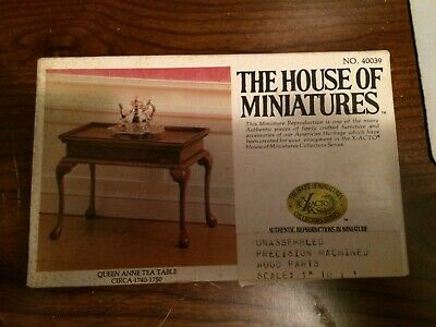 1//12 CHIPPENDALE DESK KIT #40017 HOUSE OF MINIATURES OPEN COMPLETE