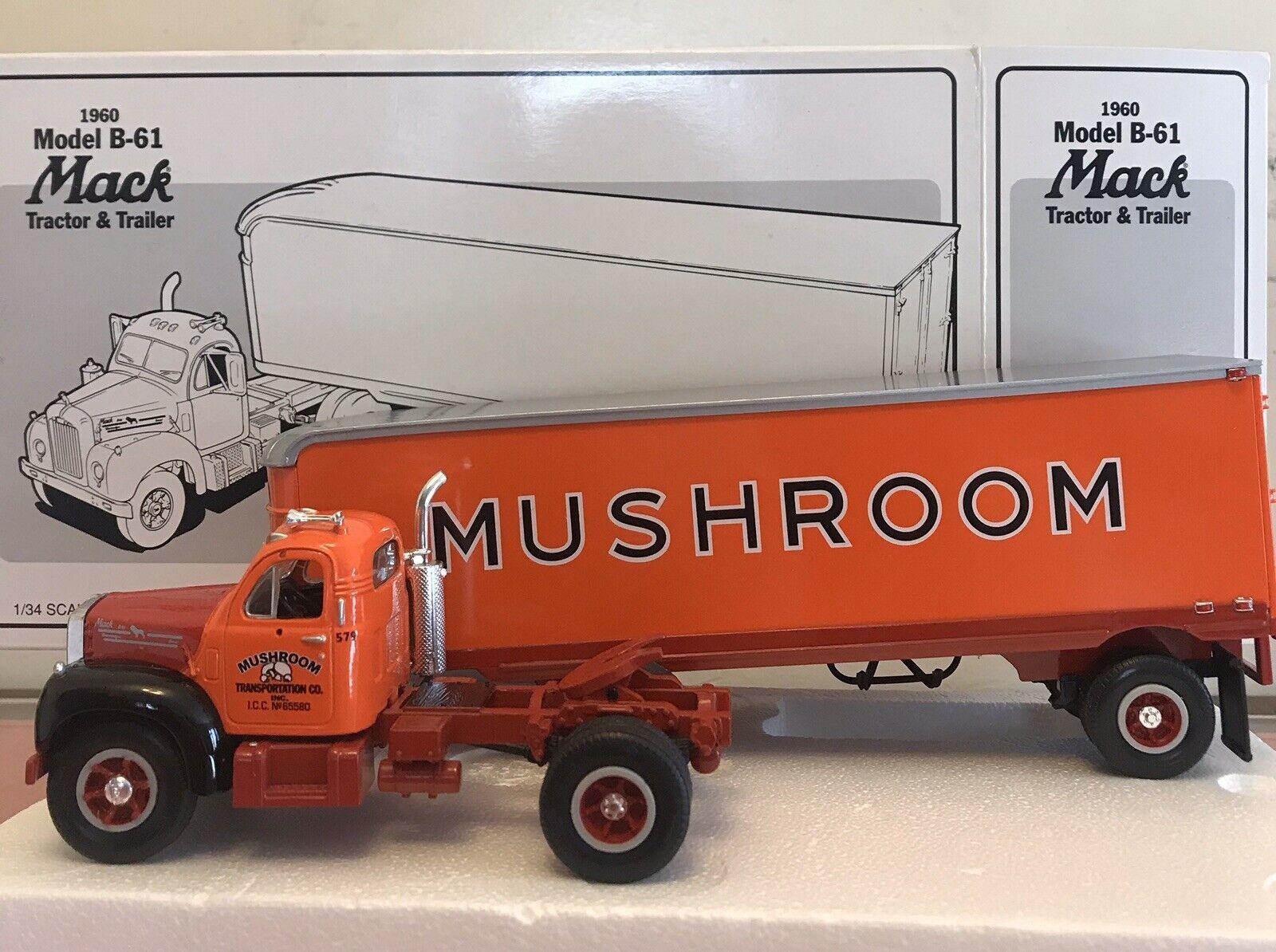 First Gear Mushroom Transport1960 B-61 Mack T T,1 34 scale,stock   19-1507