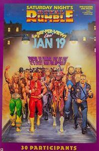 WWF-WWE-wrestling-royal-rumble-Poster-A3-Digital-Re-Print-Framed
