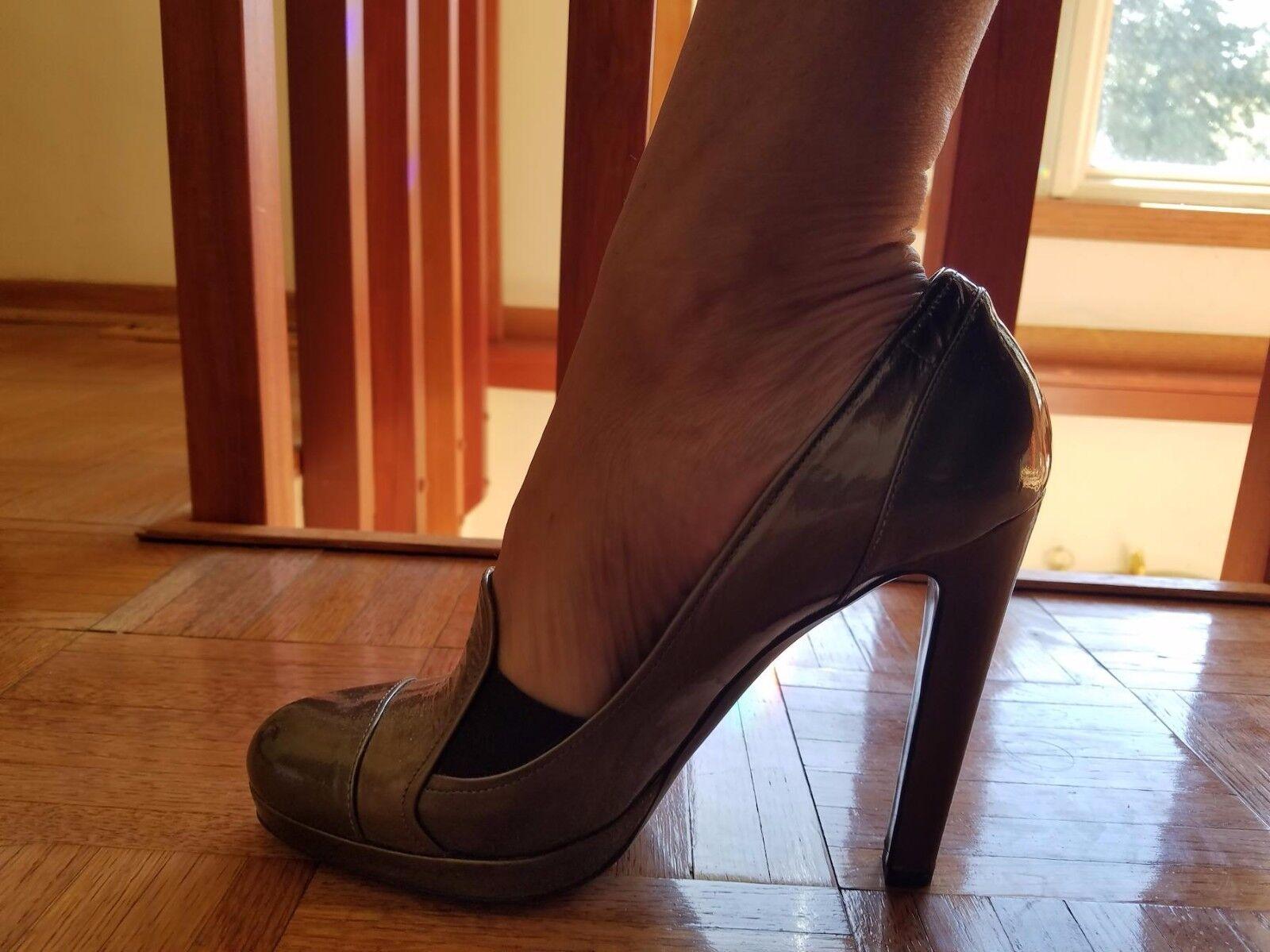 Sergio Rossi Italien storlek 40 -9 -klackar skor lackläder lackläder lackläder  grossistaffär