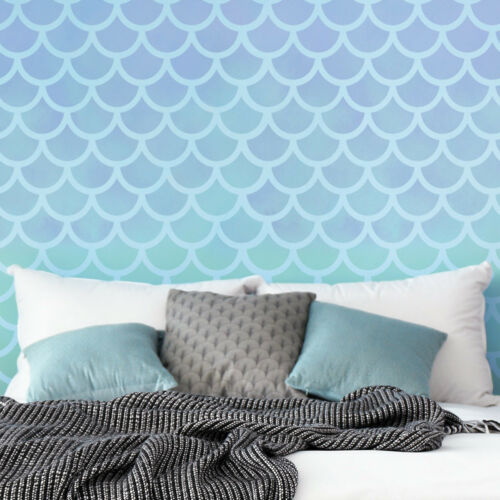 CraftStar Large Mermaid Scales Repeating Pattern Stencil Decor Template DIY