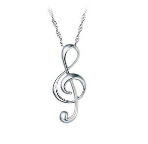 Sterling silver g clef pendant treble musical note music symbol image is loading sterling silver g clef pendant treble musical note aloadofball Choice Image