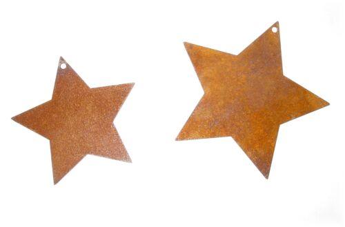 Edelrost Sterne Fensterhänger Rost Metall Deko Fenster 8-40cm Weihnachten
