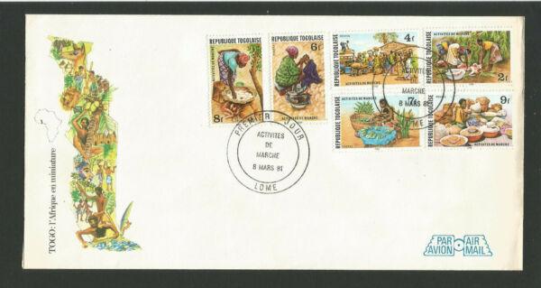 Fdc 1er Jour République Togolaise 1981 Lomé Activités De Marché /fdco66