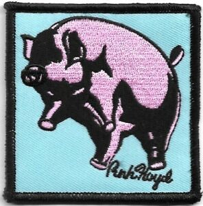 Official-Licensed-Merch-Woven-Iron-on-PATCH-Rock-PINK-FLOYD-Animals-Pig