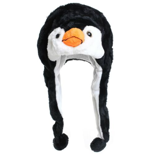 Tiermütze Wintermütze Hut Kopfbedeckung Kostüm Karneval Cap Wolf Pinguin Tiger