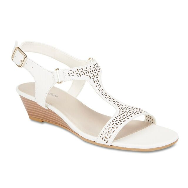 NEW Sandler Quota White Leather Sandals Women Shoes