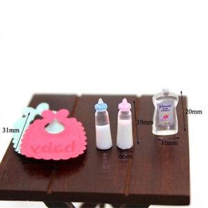 Puppenhaus-Miniatur-Babyflaschen-Shampoo-Laetzchen-Set-Kinderzimmer-Zubehoer-XF
