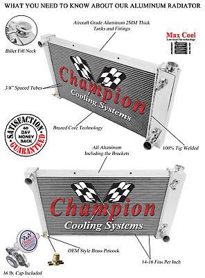 EC369 GMC CK Trucks Aluminum 2 Row Radiator