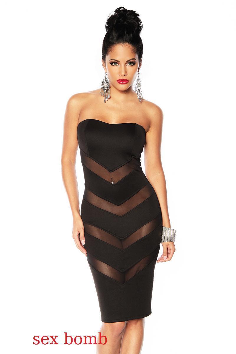 SEXY abito vestito black TRASPARENZE tag. XS,S,M,L (38,40,42,44) fashion GLAMOUR