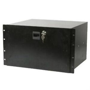 new pa dj 6u equipment rack mount steel locking storage drawer key lock ebay. Black Bedroom Furniture Sets. Home Design Ideas