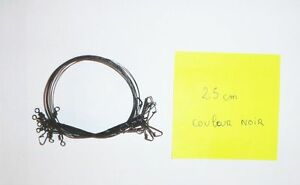 Lot-de-10-bas-de-ligne-aciers-noir-de-23-cm-pour-la-peche-des-carnassiers