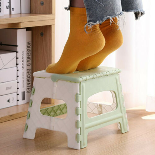 Details about  /Plastic Multi Purpose Folding Step Stool Home Train Outdoor Storage Foldable