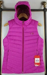 NWT-THE-NORTH-FACE-700-Small-Womens-Hooded-Down-Insulated-Pink-Vest-New-179