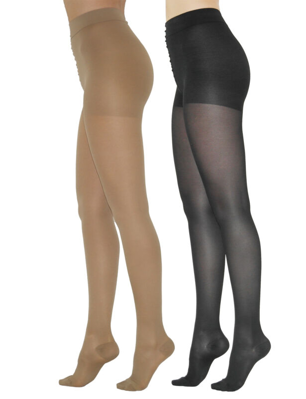 Clear Tights Pantyhose Support Tights 70den 17-18 Mmhg