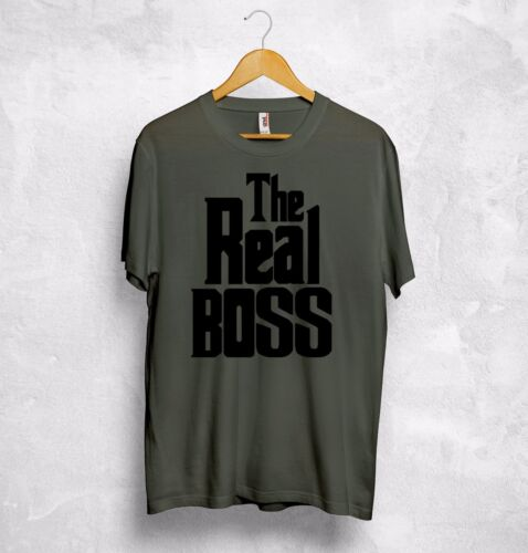 The Boss The Real Boss T Shirt Matching Couple Valentines Gift Boyfriend Wifey