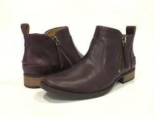 41388ce77ae Details about UGG AUREO ANKLE BOOTS OXBLOOD WINE LEATHER -US SIZE 10 -NEW