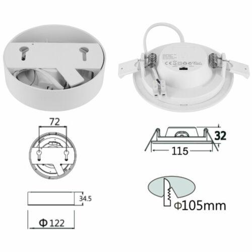 LED CCT 9W 230V IP44 Slim Panel Einbauleuchte Einbaustrahler Farbwechsel rund