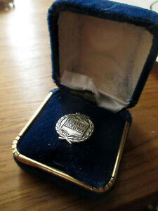 NEW-Vtg-Estate-STERLING-SILVER-HGH-LIFETIME-MEMBER-TIE-PIN-TACK-IN-BOX-H-G-H
