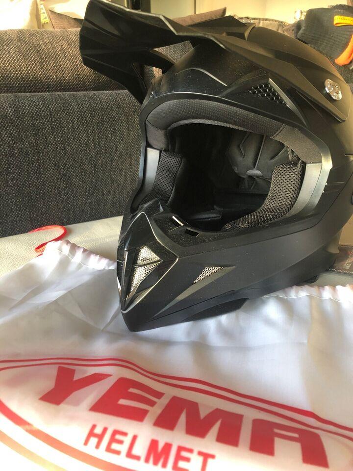 motorcykel hjelm(Yema)