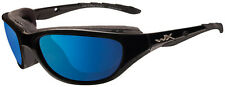 WILEY X Air Rage Polarized Blue Mirror Lens Gloss Black Frame 698