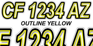 OIL FLAME Custom Boat Registration Number Decals Vinyl Lettering Stickers