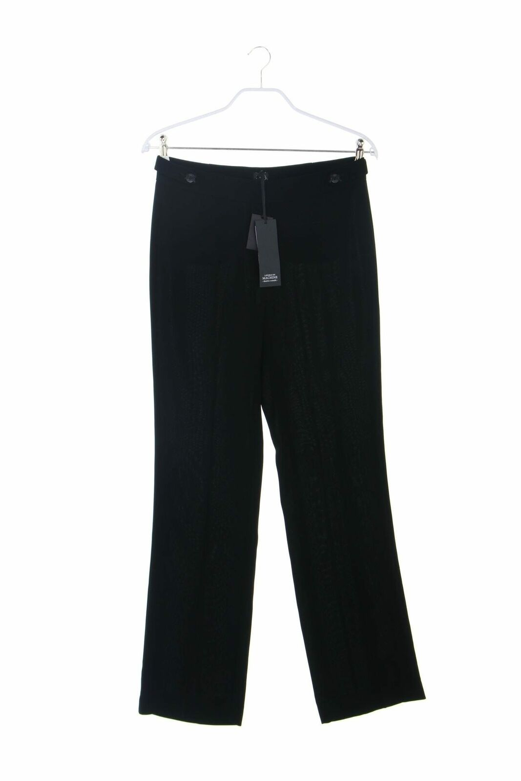 1.2.3. UN DEUX TROIS Paris Clean Chic-Hose mit Riegeln D 38 schwarz Damen Pants