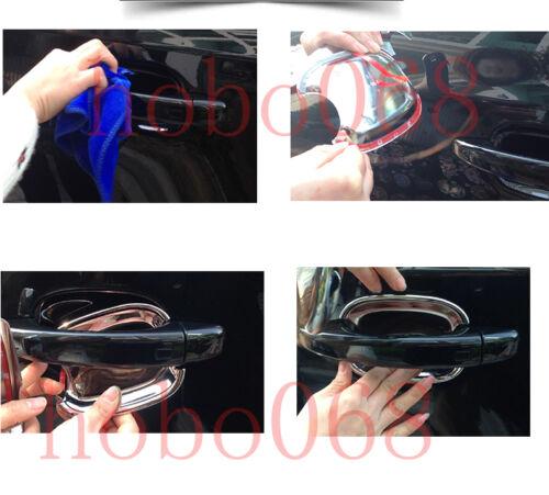 4x For Audi Q3 Q5 Car ABS DOOR HANDLE Bowl PROTECTOR SCRATCH Frames Trims L/&R