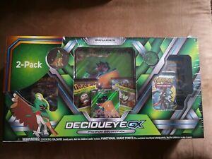 Two pack Pokemon TCG Incineroar & Decidueye GX Premium