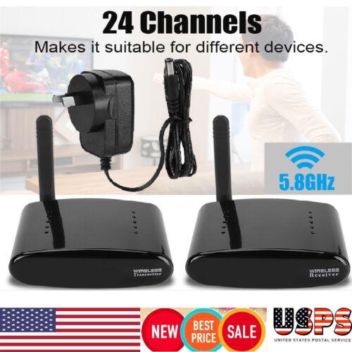 24-channel 5.8GHz AV Sender Transmitter Receiver Wireless Video Audio US