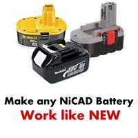 Battery Fix Nicad Bosch Hitachi JCB Dewalt Makita 24v 18v 14,4v 12v 9,6v Ni-CD