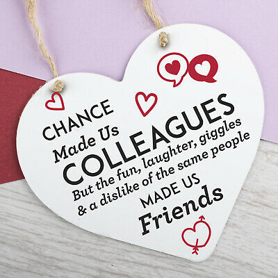 Chance Made Us Colleagues Quote Wooden Butterfly Shape Plaque Gift Sign btc1
