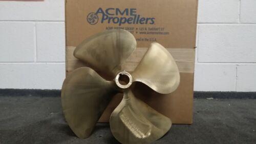 "Marine Propeller 0.135 13-1//2/"" X 16/"" Brass 4 Blade ACME 1161  3531602"